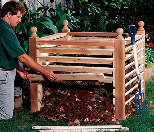 Compost Crib Woodworking Plan - Product Code DP-00165