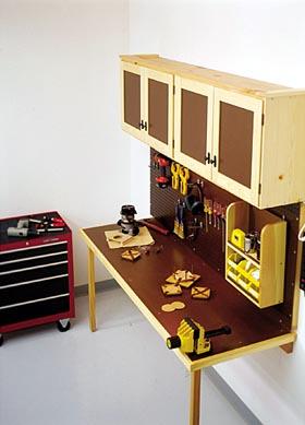 Space-Saving Work Center Woodworking Plan