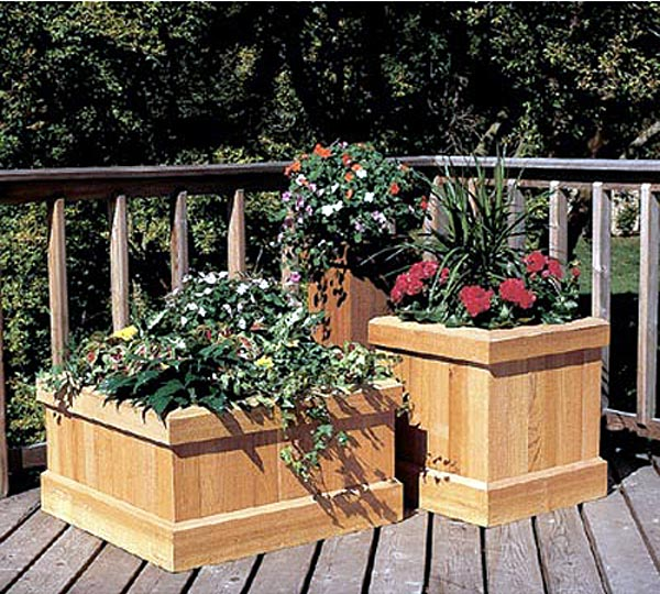 Trio of Cedar Planters Woodworking Plan - Product Code DP-00299