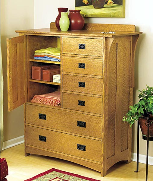 Arts and Crafts Dresser Woodworking Plan - Product Code DP-00440