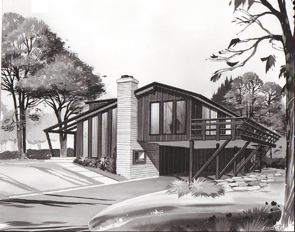 Contemporary, Retro House Plan 10058 with 3 Beds, 2 Baths, 1 Car Garage Elevation