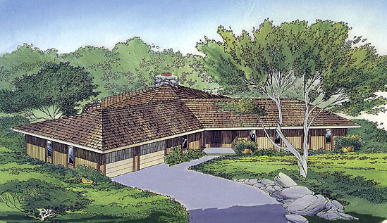 Contemporary, One-Story, Ranch, Retro House Plan 10274 with 3 Beds, 2 Baths, 2 Car Garage Front Elevation