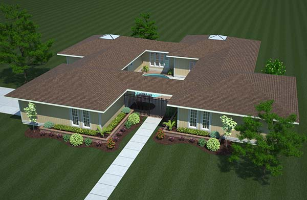 Contemporary, One-Story, Ranch House Plan 10507 with 3 Beds, 2 Baths, 2 Car Garage Picture 1