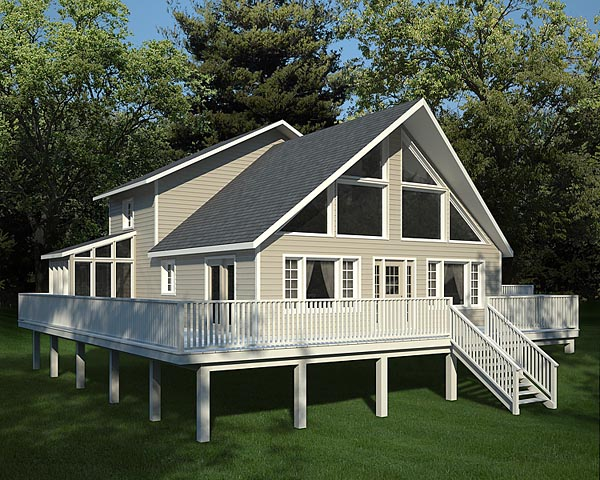 Cabin, Contemporary House Plan 10515 with 3 Beds, 3 Baths Elevation