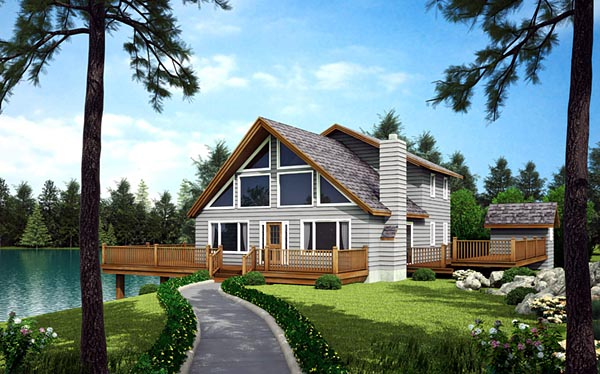 Cabin, Contemporary House Plan 10515 with 3 Beds, 3 Baths Picture 1