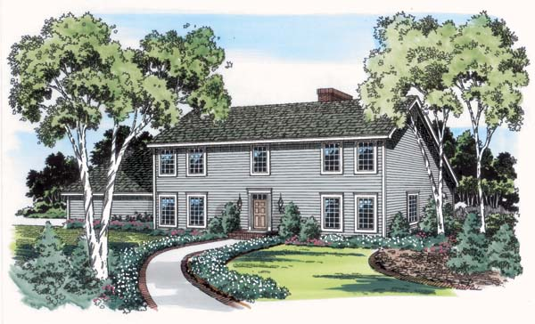 Colonial, Saltbox House Plan 10659 with 3 Beds, 3 Baths, 3 Car Garage Elevation
