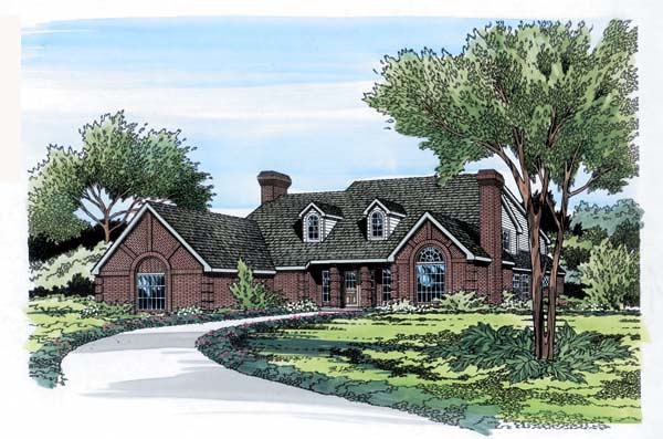 European, Traditional House Plan 10696 with 4 Beds, 4 Baths, 3 Car Garage Elevation