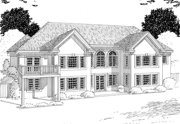 Contemporary, One-Story, Ranch, Traditional House Plan 24802 with 4 Beds, 3 Baths, 3 Car Garage Rear Elevation