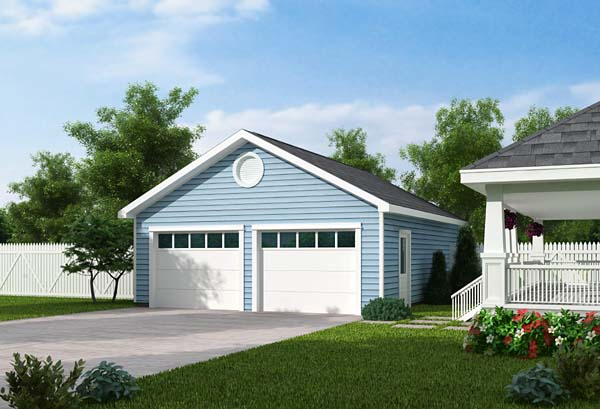 Country, Traditional 2 Car Garage Plan 30000 Front Elevation