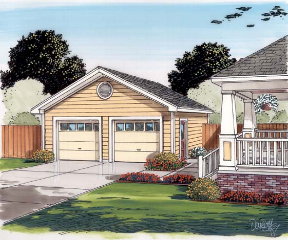 Country, Traditional 2 Car Garage Plan 30000 Picture 1