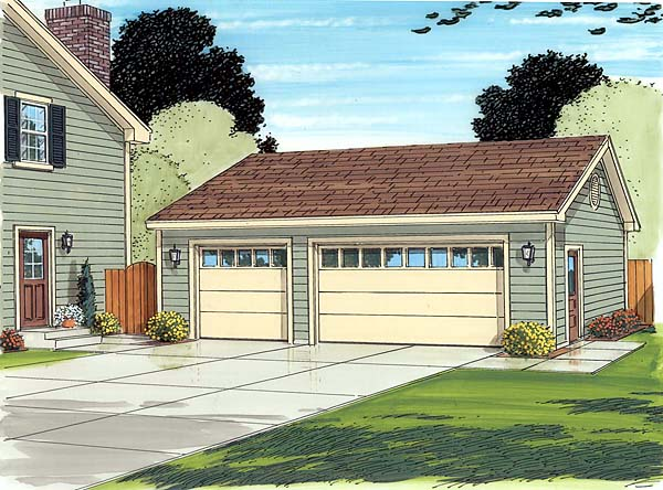 Cottage, Country, Ranch, Traditional 3 Car Garage Plan 30003 Picture 1