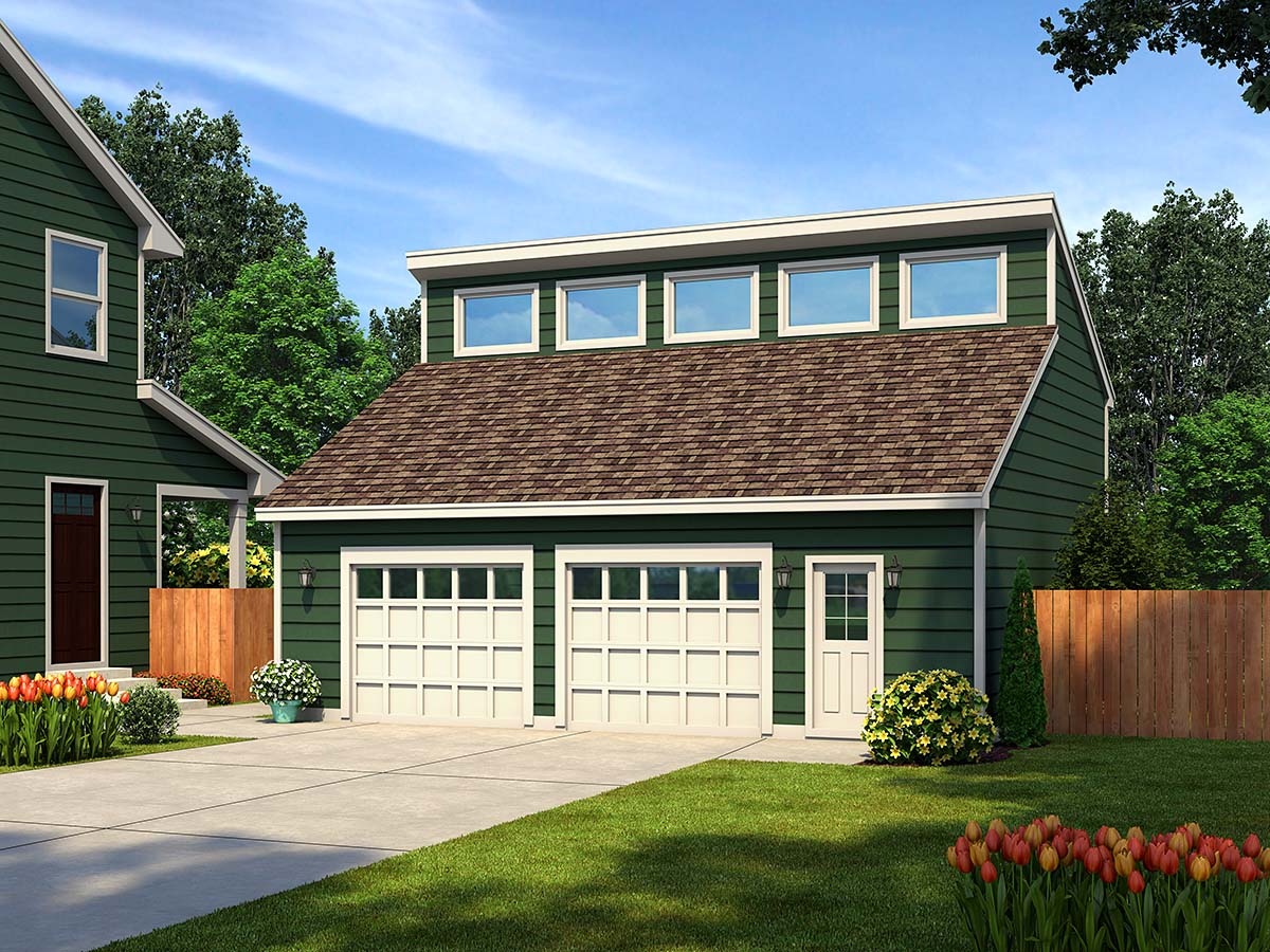Contemporary 2 Car Garage Plan 30011 Elevation