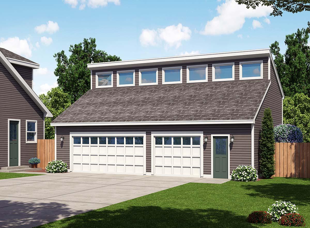 Contemporary 3 Car Garage Plan 30012 Elevation