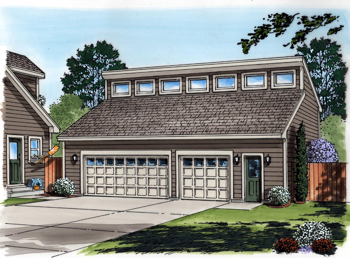 Contemporary 3 Car Garage Plan 30012 Picture 1
