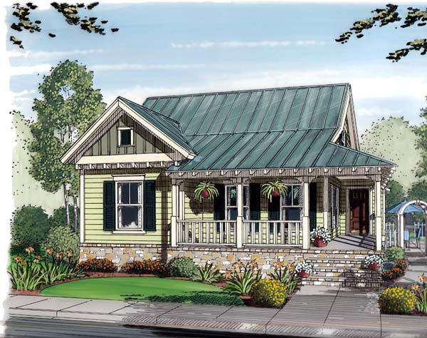 Bungalow, Cottage, Country House Plan 30502 with 3 Beds, 2 Baths, 2 Car Garage Front Elevation