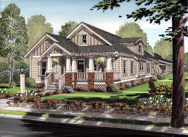 Bungalow, Cottage, Craftsman House Plan 30504 with 6 Beds, 3 Baths, 2 Car Garage Picture 1