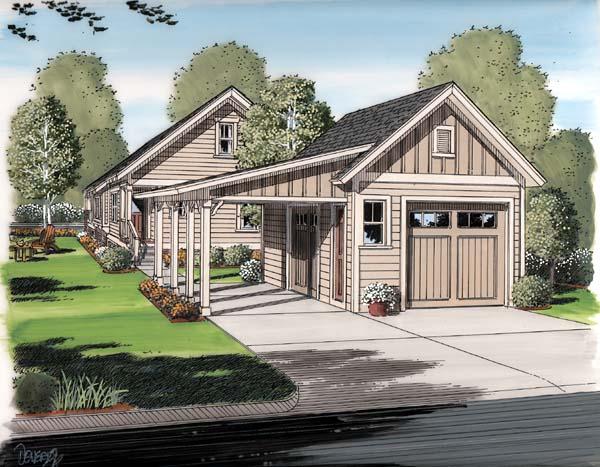 Bungalow, Cottage, Craftsman House Plan 30504 with 6 Beds, 3 Baths, 2 Car Garage Rear Elevation