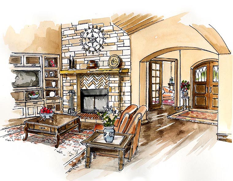 Craftsman, European, Farmhouse, Ranch House Plan 30507 with 3 Beds, 4 Baths, 3 Car Garage Picture 1