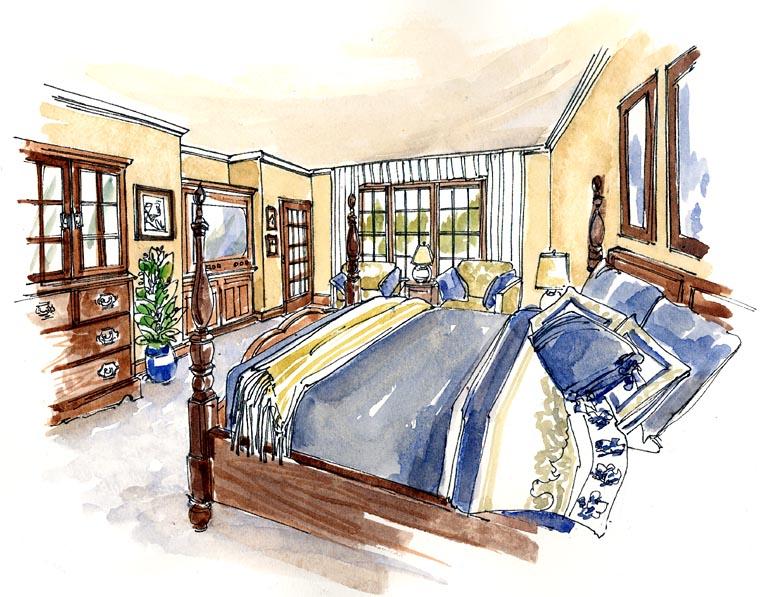 Craftsman, European, Farmhouse, Ranch House Plan 30507 with 3 Beds, 4 Baths, 3 Car Garage Picture 3