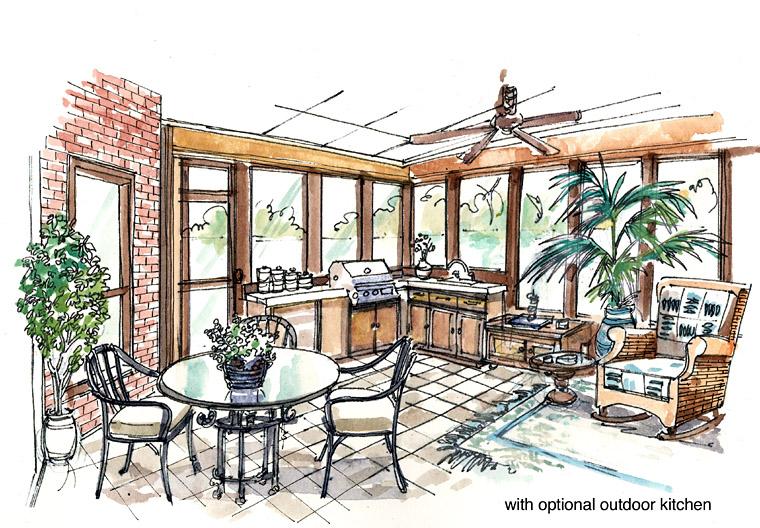 Craftsman, European, Farmhouse, Ranch House Plan 30507 with 3 Beds, 4 Baths, 3 Car Garage Picture 4