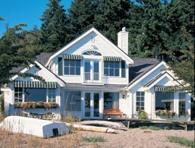 Bungalow, Coastal, Country House Plan 32309 with 2 Beds, 4 Baths, 2 Car Garage Elevation