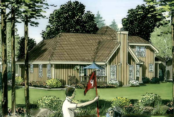 Bungalow, Country, Traditional House Plan 34049 with 4 Beds, 3 Baths, 2 Car Garage Picture 1