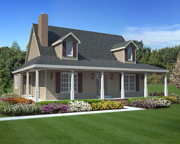 Country, Southern House Plan 34602 with 3 Beds, 3 Baths Elevation