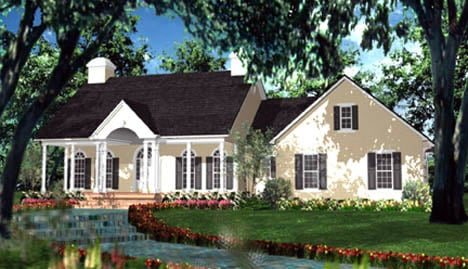 Cape Cod, Colonial, European House Plan 40013 with 3 Beds, 3 Baths, 2 Car Garage Elevation