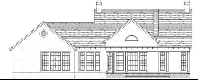 Cape Cod, Colonial, European House Plan 40013 with 3 Beds, 3 Baths, 2 Car Garage Rear Elevation