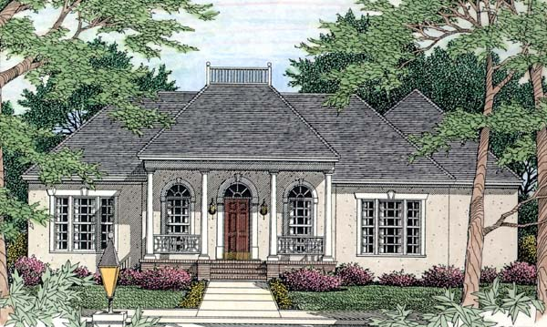 House Plan 40027 with 3 Beds, 2 Baths, 2 Car Garage Front Elevation