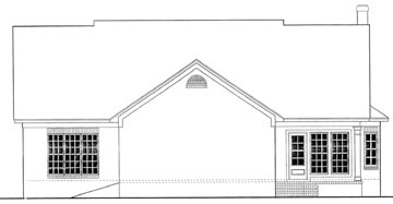 Cape Cod, Country House Plan 40034 with 3 Beds, 2 Baths, 2 Car Garage Rear Elevation