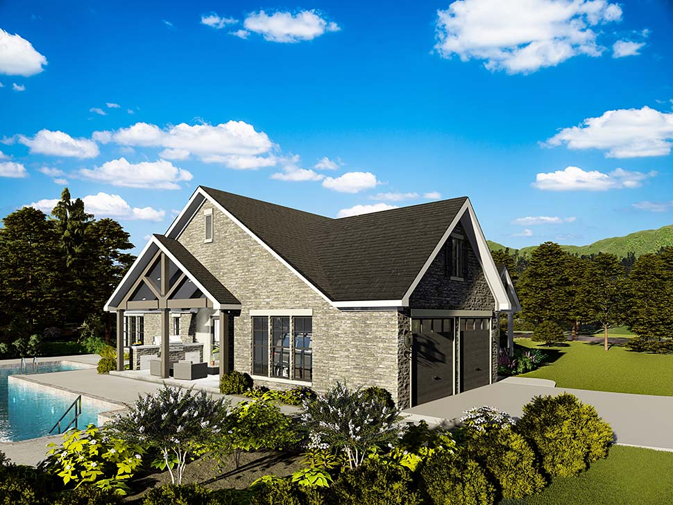 Cape Cod, Coastal, Cottage, Country, Southern, Traditional House Plan 40040 with 3 Beds, 2 Baths, 2 Car Garage Picture 2