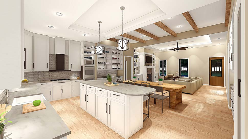 Cottage, Country, Farmhouse, Ranch, Southern, Traditional House Plan 40045 with 3 Beds, 2 Baths, 2 Car Garage Picture 6