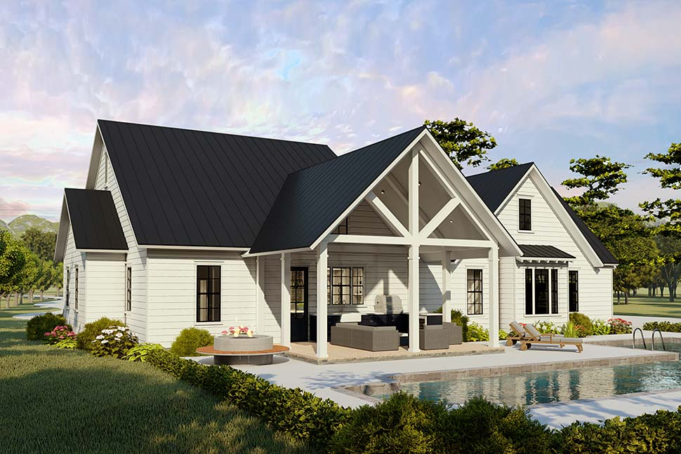 Cottage, Country, Craftsman, Farmhouse, Ranch, Southern, Traditional House Plan 40046 with 4 Beds, 2 Baths, 2 Car Garage Picture 4