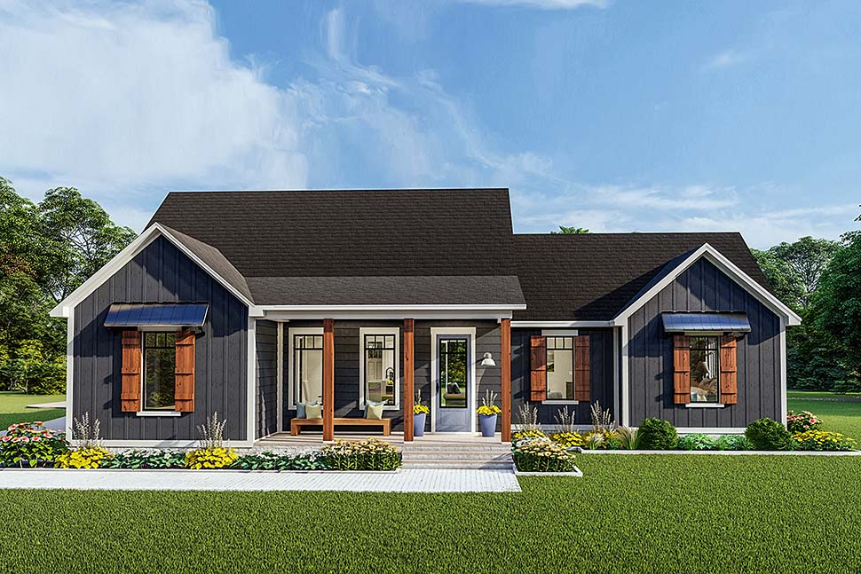 Cottage, Country, Craftsman, Farmhouse, Ranch, Southern, Traditional House Plan 40048 with 3 Beds, 2 Baths, 2 Car Garage Front Elevation