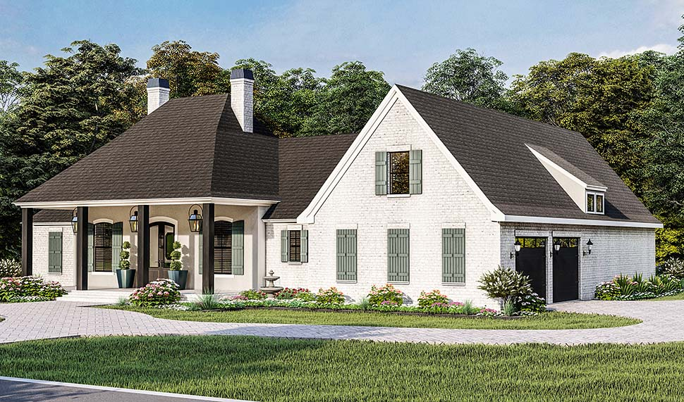 Country, Farmhouse, French Country, Southern, Traditional House Plan 40051 with 4 Beds, 3 Baths, 2 Car Garage Picture 3