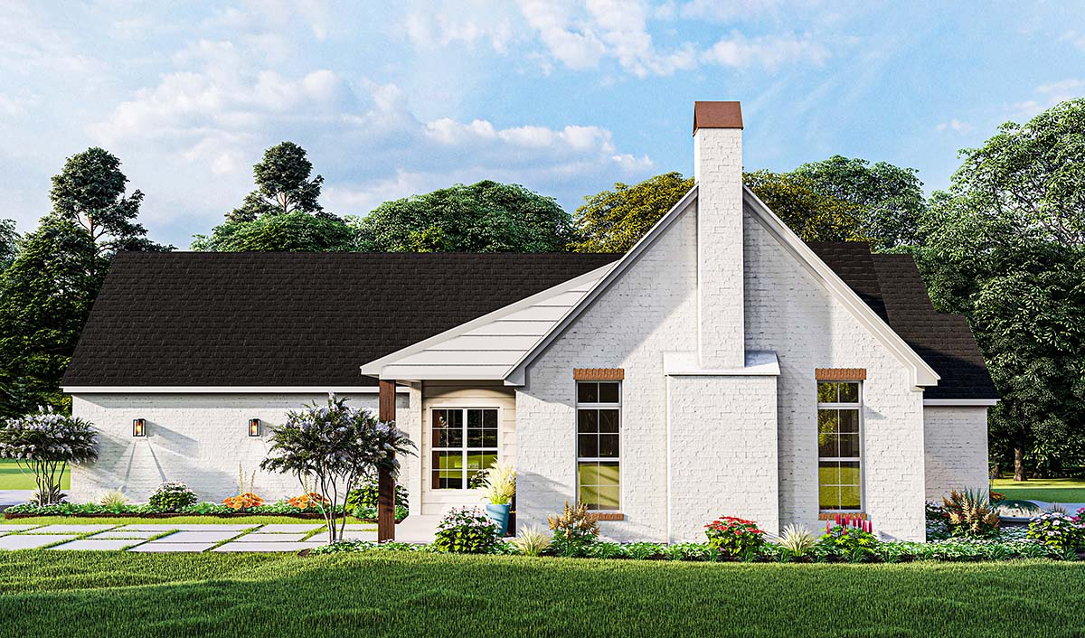 Cottage, French Country, Ranch House Plan 40052 with 3 Beds, 2 Baths, 2 Car Garage Picture 2