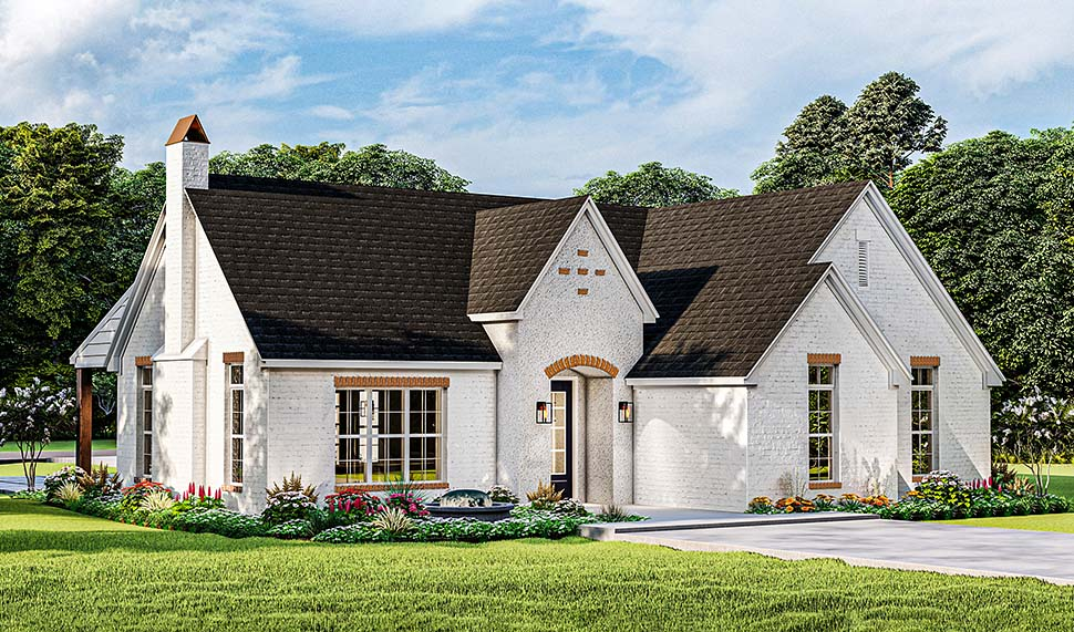 Cottage, French Country, Ranch House Plan 40052 with 3 Beds, 2 Baths, 2 Car Garage Picture 3