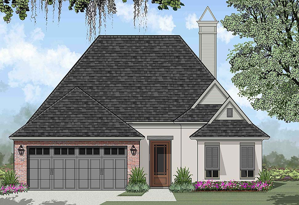European, French Country House Plan 40317 with 3 Beds, 2 Baths, 2 Car Garage Elevation