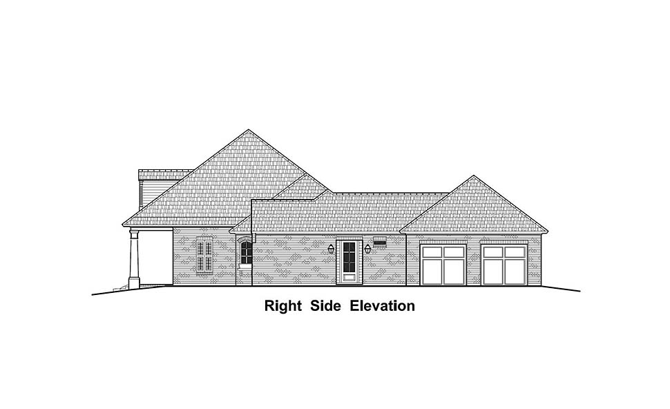 Colonial, Country, French Country, Southern House Plan 40335 with 3 Beds, 3 Baths, 2 Car Garage Picture 1