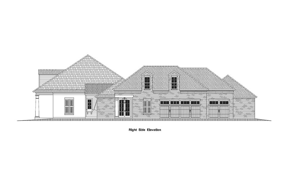 Country, French Country, Southern House Plan 40336 with 4 Beds, 5 Baths, 3 Car Garage Picture 1