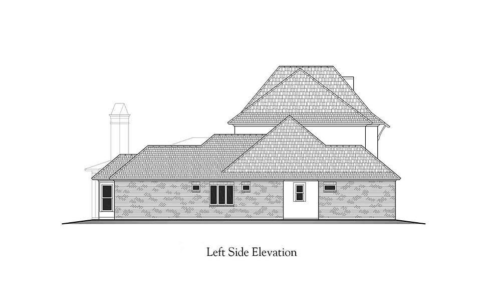 European, French Country, Southern House Plan 40338 with 4 Beds, 5 Baths, 3 Car Garage Picture 2