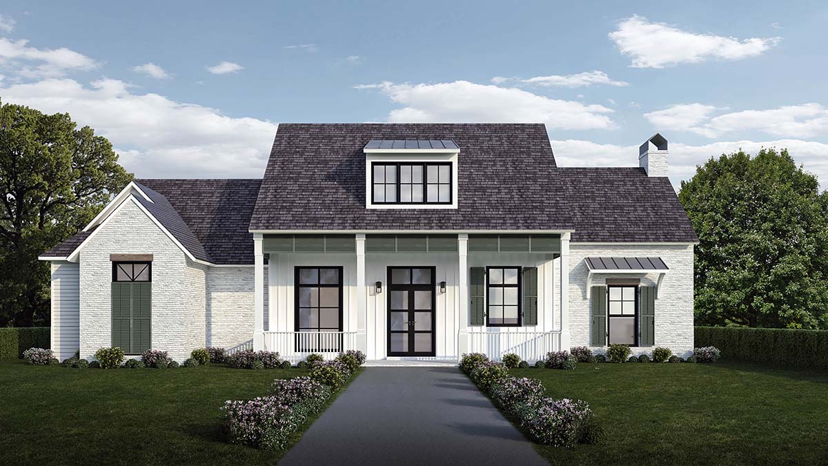 Country, Farmhouse, Southern House Plan 40341 with 4 Beds, 4 Baths, 2 Car Garage Elevation