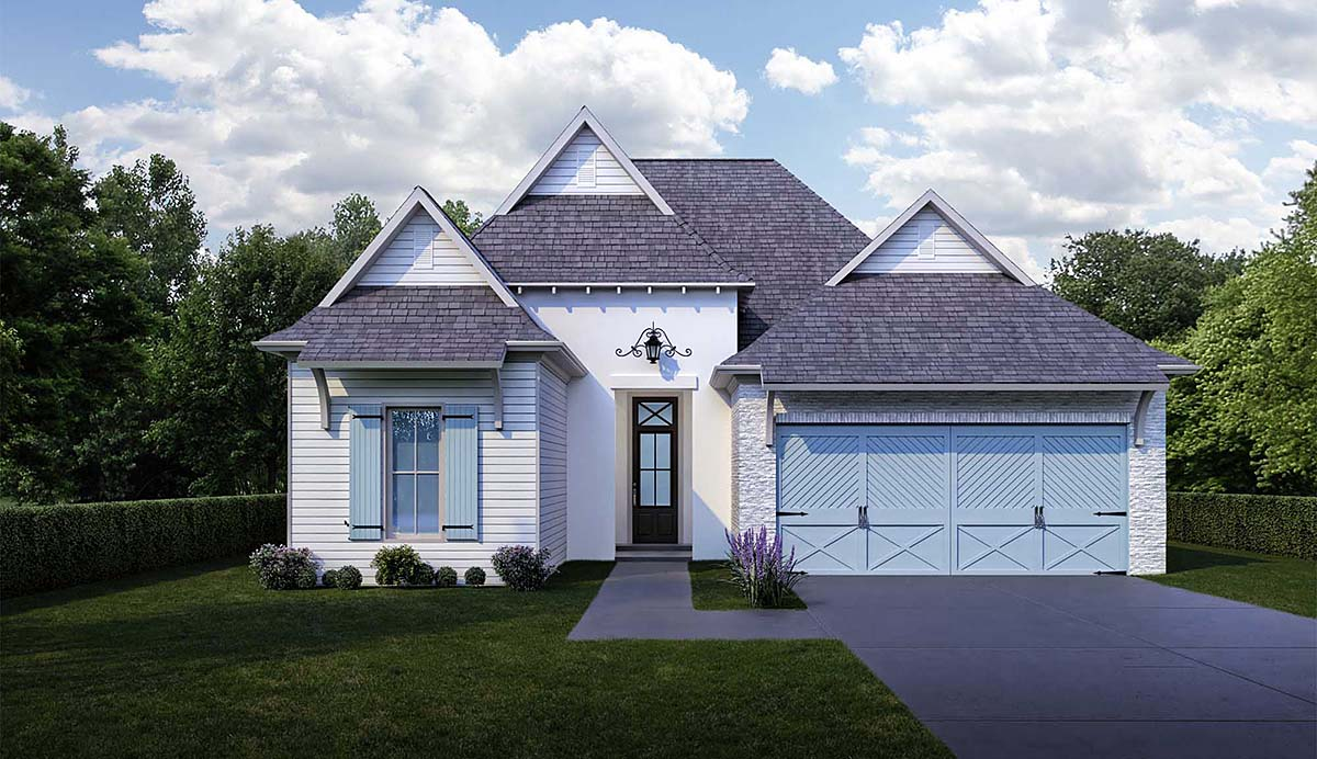Cottage House Plan 40345 with 4 Beds, 3 Baths, 2 Car Garage Elevation
