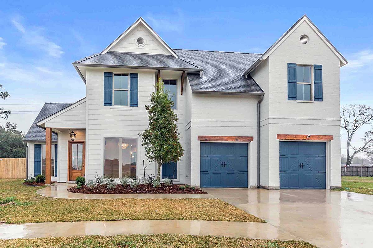 Country, Traditional House Plan 40346 with 4 Beds, 3 Baths, 2 Car Garage Elevation