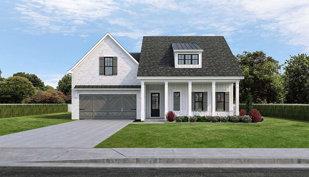 Farmhouse House Plan 40350 with 4 Beds, 3 Baths, 2 Car Garage Picture 1