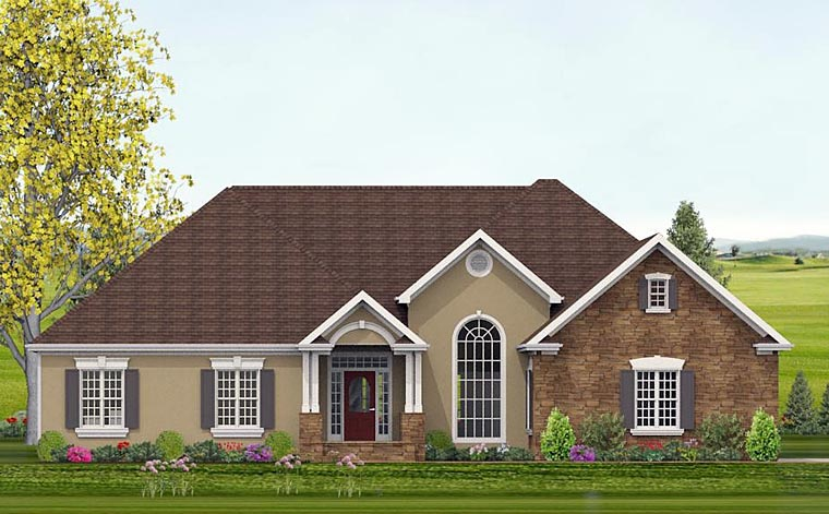 European, Traditional House Plan 40511 with 4 Beds, 4 Baths, 2 Car Garage Elevation
