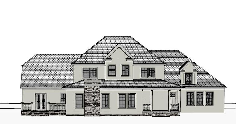 Colonial, Southern House Plan 40518 with 4 Beds, 4 Baths, 3 Car Garage Rear Elevation