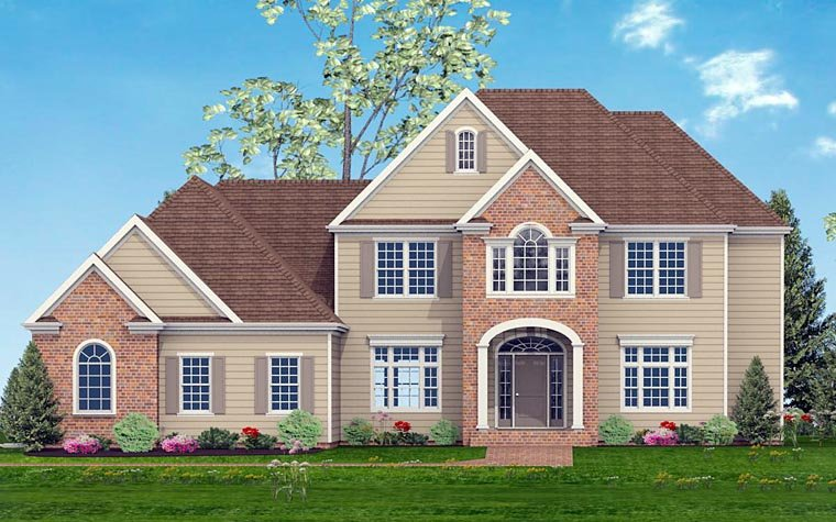 European, Southern, Traditional House Plan 40520 with 5 Beds, 4 Baths, 3 Car Garage Elevation