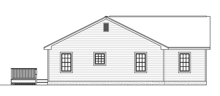 Ranch, Traditional House Plan 40606 with 3 Beds, 2 Baths, 2 Car Garage Picture 1